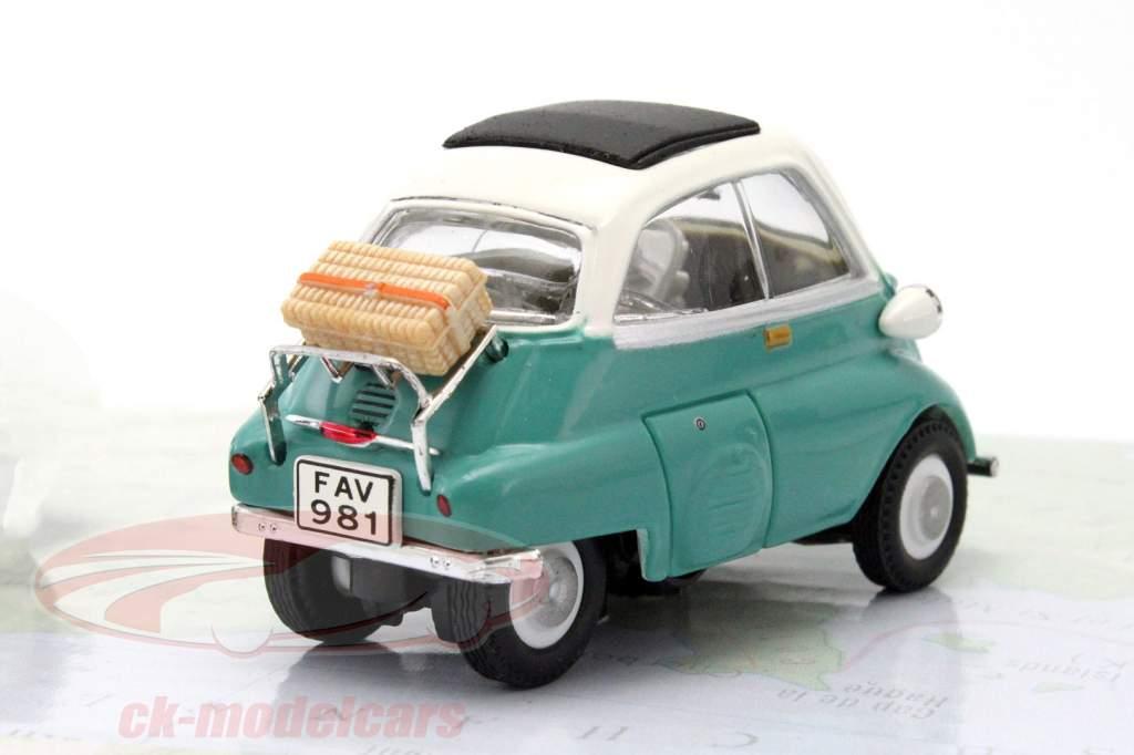 3-Car Set BMW Isetta azul / vermelho / verde 1:43 Cararama