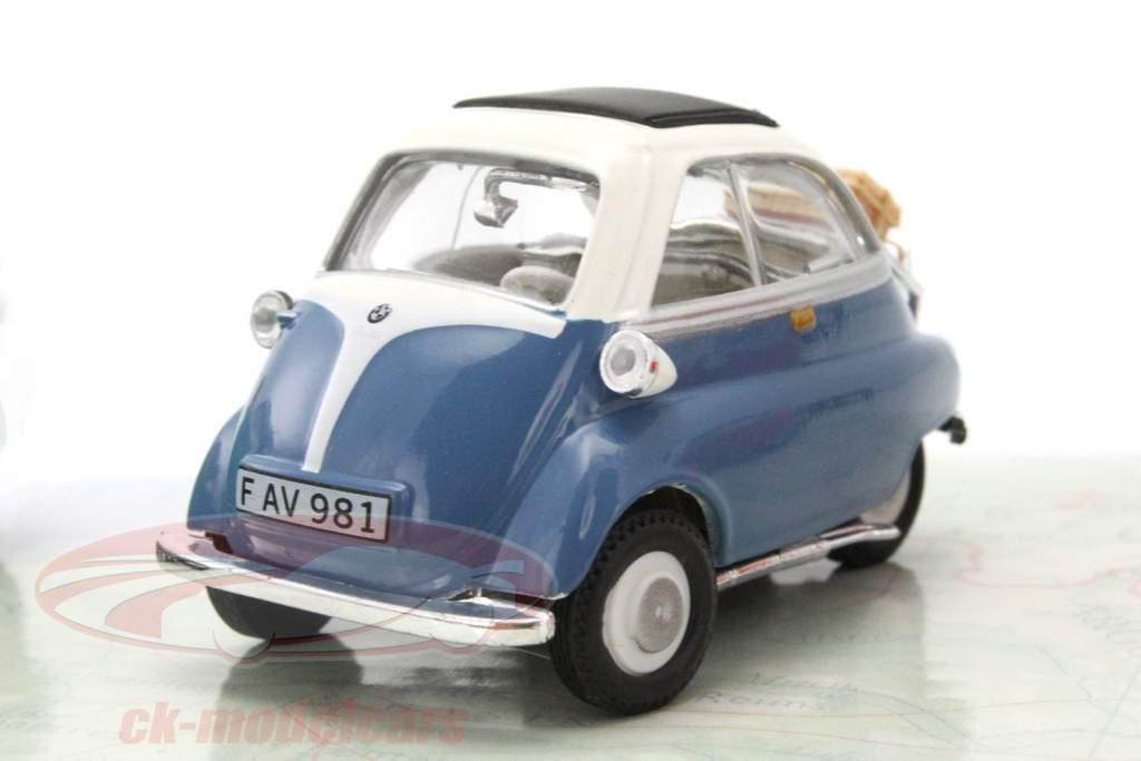 3-Car Set BMW Isetta blå / rød / grøn 1:43 Cararama