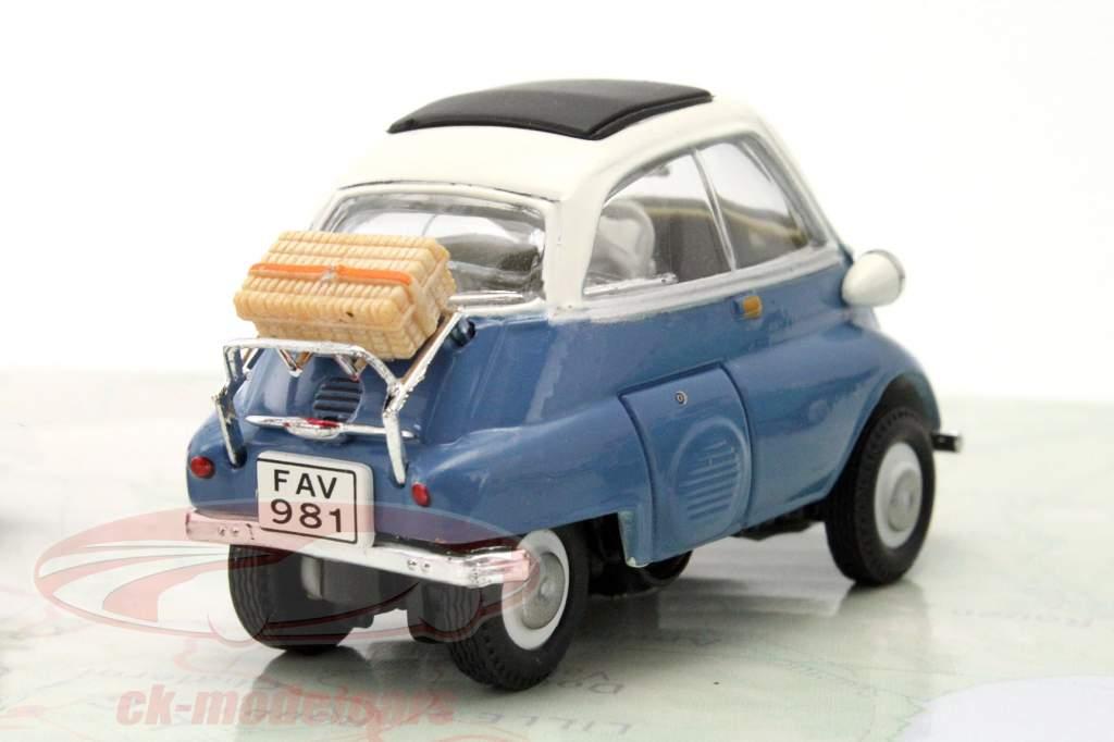 3-Car Set BMW Isetta bleu / rouge / vert 1:43 Cararama