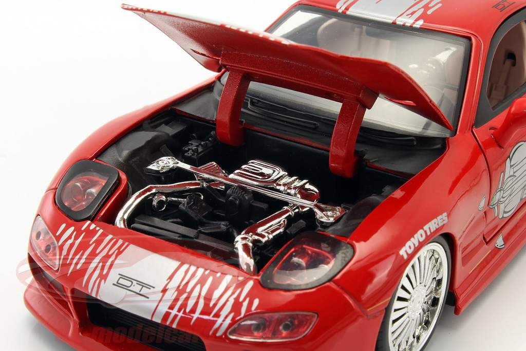 Dom's Mazda RX-7 Fast and Furious 赤 1:24 Jada Toys