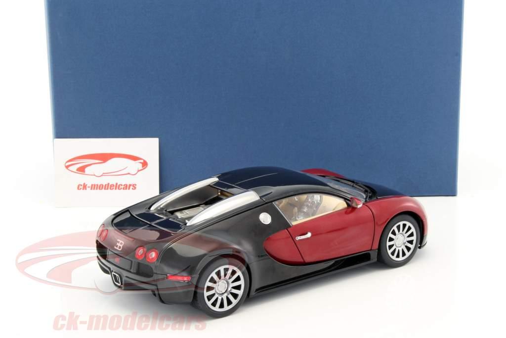 autoart 1:18 bugatti eb 16.4 veyron baujahr 2006 schwarz / dunkelrot