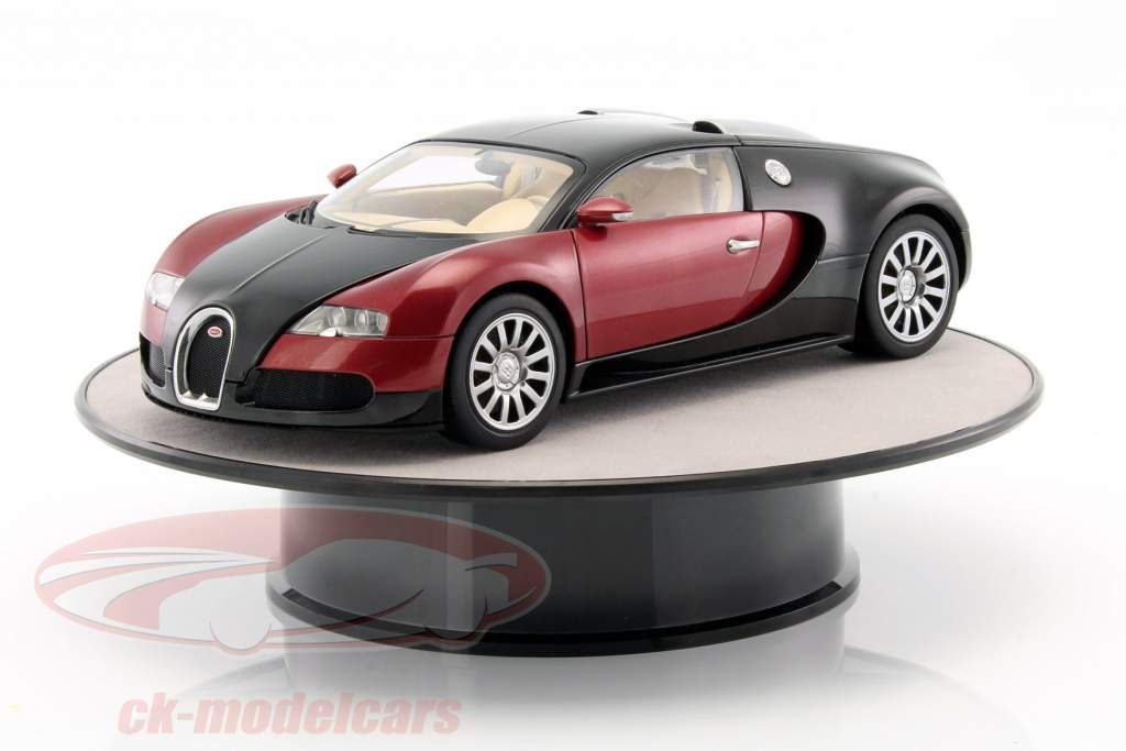 pladespiller diameter ca. 25,5 cm til modelbiler i skala 1:18 sølv AUTOart
