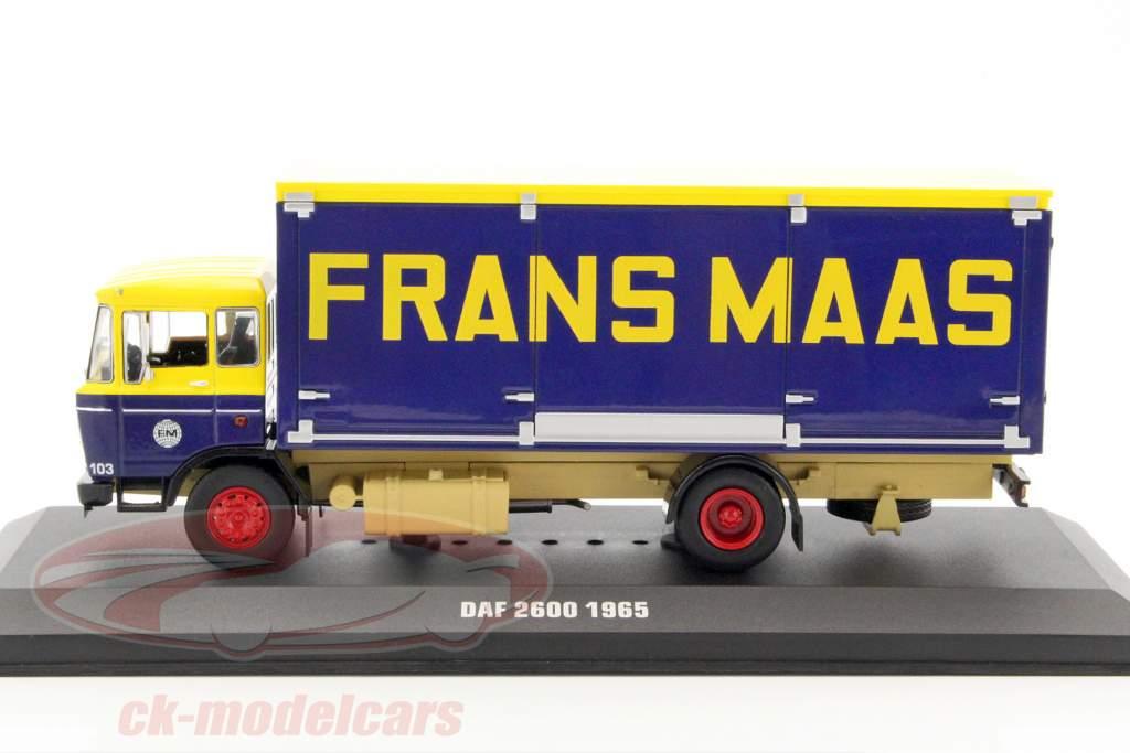 DAF 2600 Frans Maas Baujahr 1965 gelb / dunkelblau 1:43 Ixo