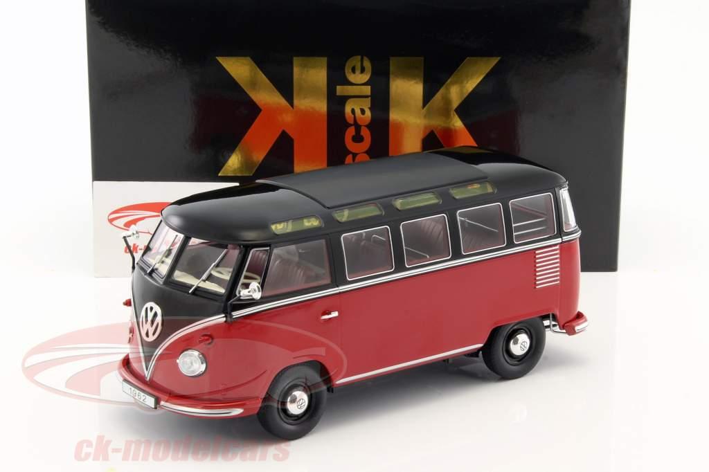 Volkswagen VW Bulli T1 Samba year 1962 red / black 1:18 KK-Scale