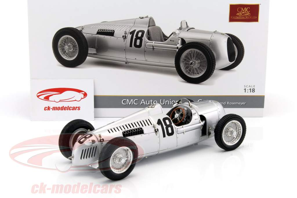 Auto Union Typ C #18 Eifelrennen 1936 Bernd Rosemeyer 1:18 CMC