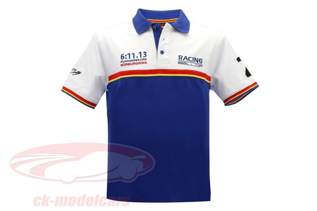 Stefan Bellof shirt Polo record du tour 6:11.13 min bleu / blanc