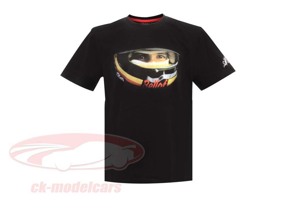 Stefan Bellof T-Shirt ''Helm'' Classic Line schwarz / rot