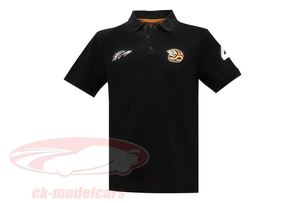 Stefan Bellof shirt Polo casque Classic Line noir