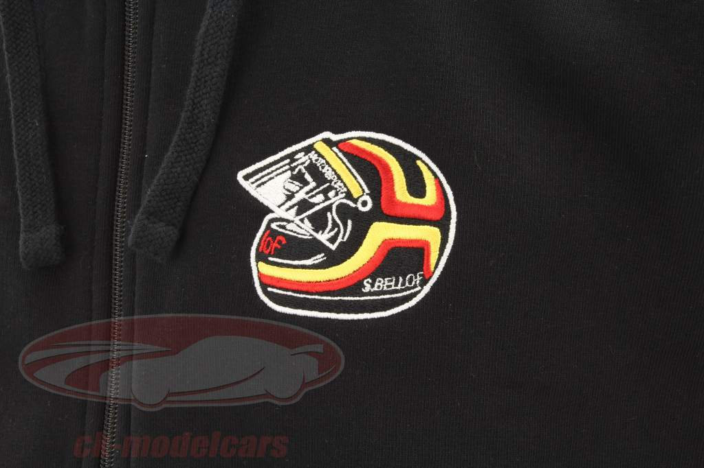Stefan Bellof Sweat jacket helmet Classic Line black / red / yellow