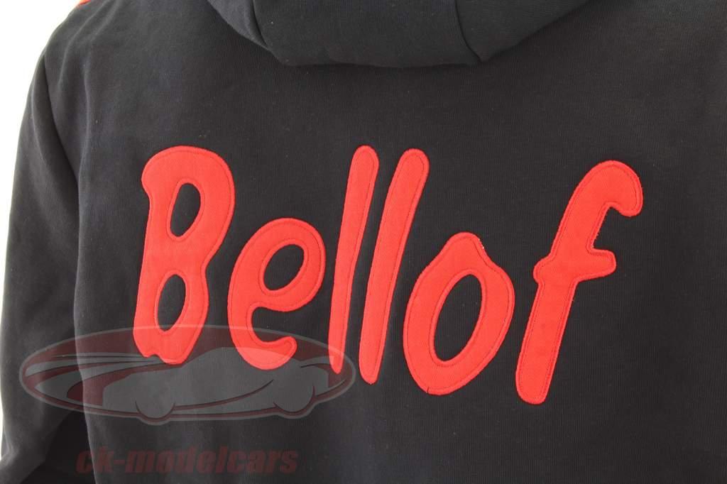 Stefan Bellof Sweat Jacke ''Helm'' Classic Line schwarz / rot / gelb