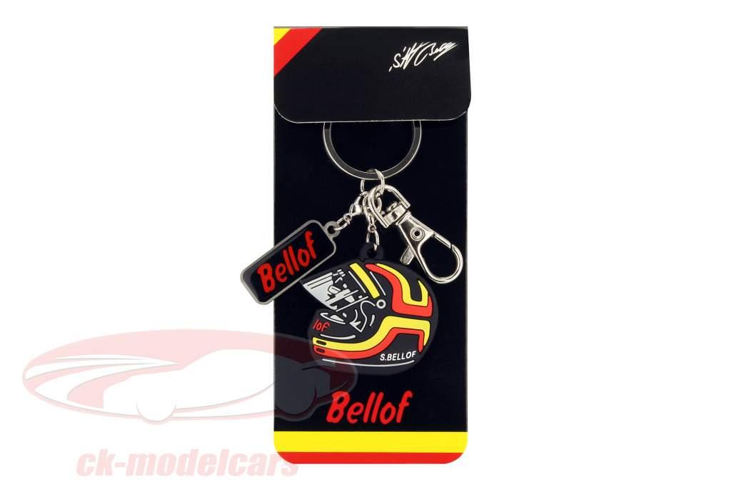 Stefan Bellof nøglering hjelm rød / gul / sort