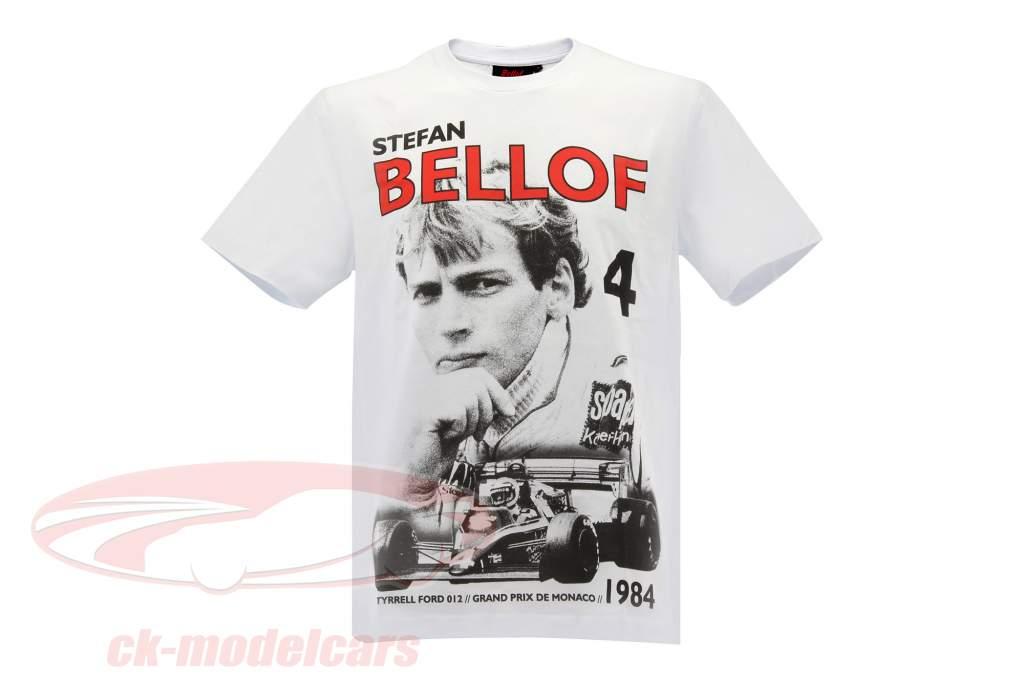 Stefan Bellof T-Shirt Podium GP Monaco 1984 weiß / rot / schwarz