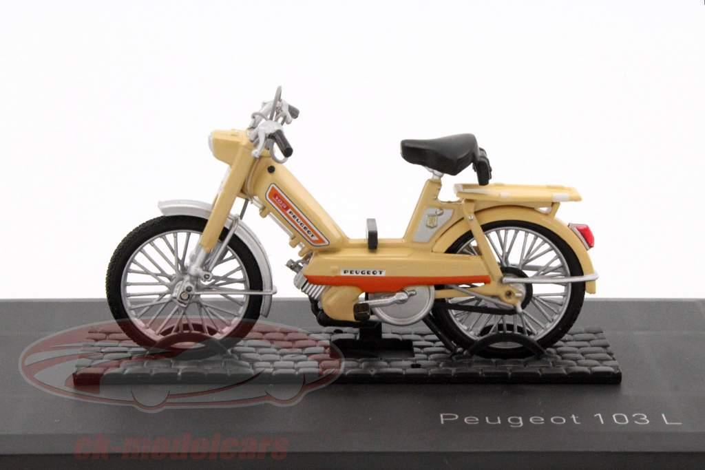 Peugeot 103 L år 1972 beige 1:18 Norev