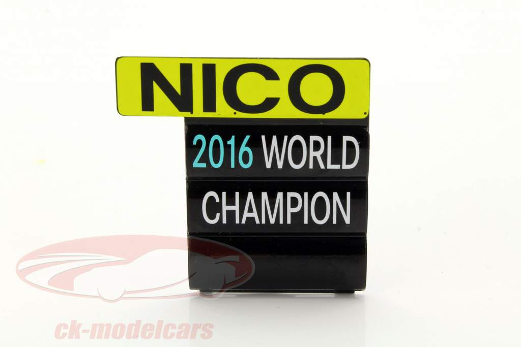 Nico Rosberg Mercedes F1 W07 Hybrid #6 campeón del mundo Abu Dhabi GP F1 2016 1:18 Spark