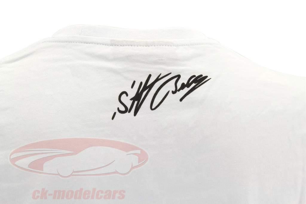 Stefan Bellof T-shirt Podium GP Monaco 1984 wit / rood / zwart