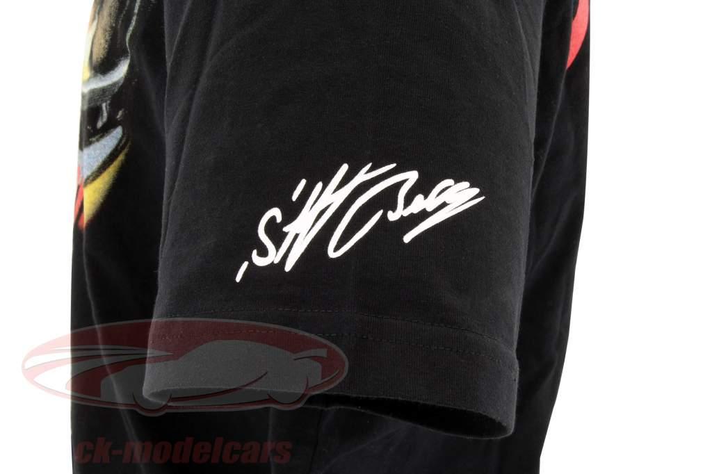 Stefan Bellof T-shirt hjelm Classic Line sort / rød