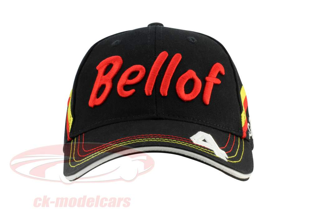 Stefan Bellof boné capacete Classic Line preto / vermelho / amarelo