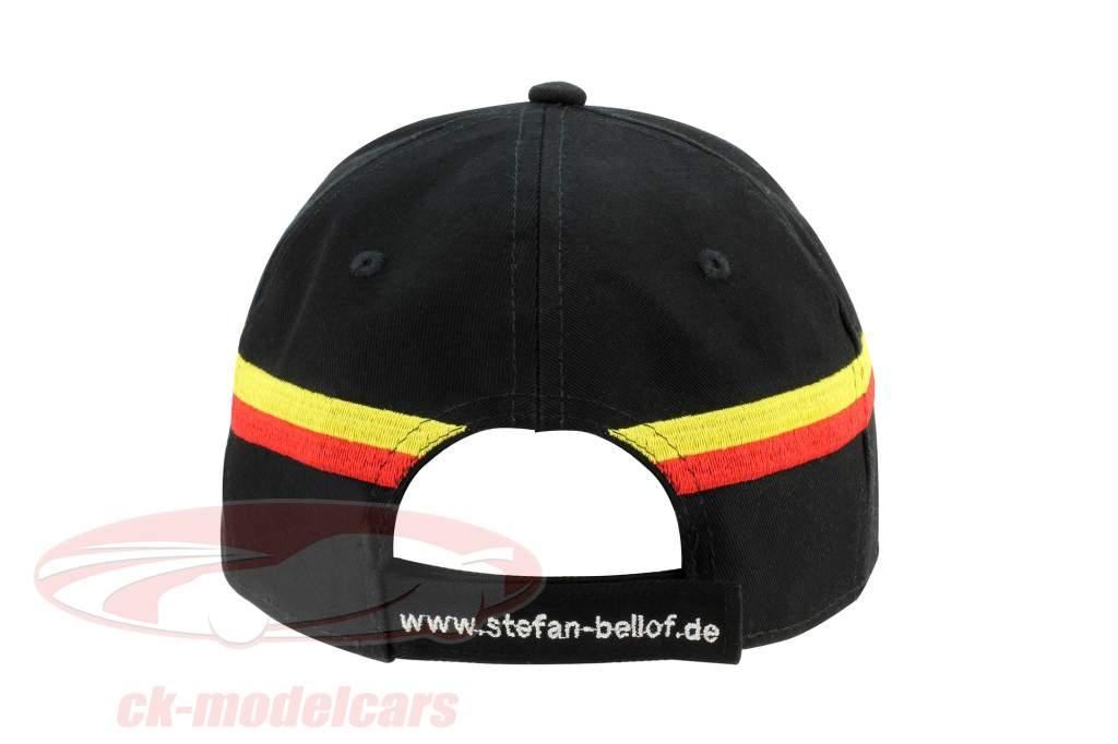 """Stefan Bellof berretto """"casco"""" Classic Line nero / rosso / giallo"""