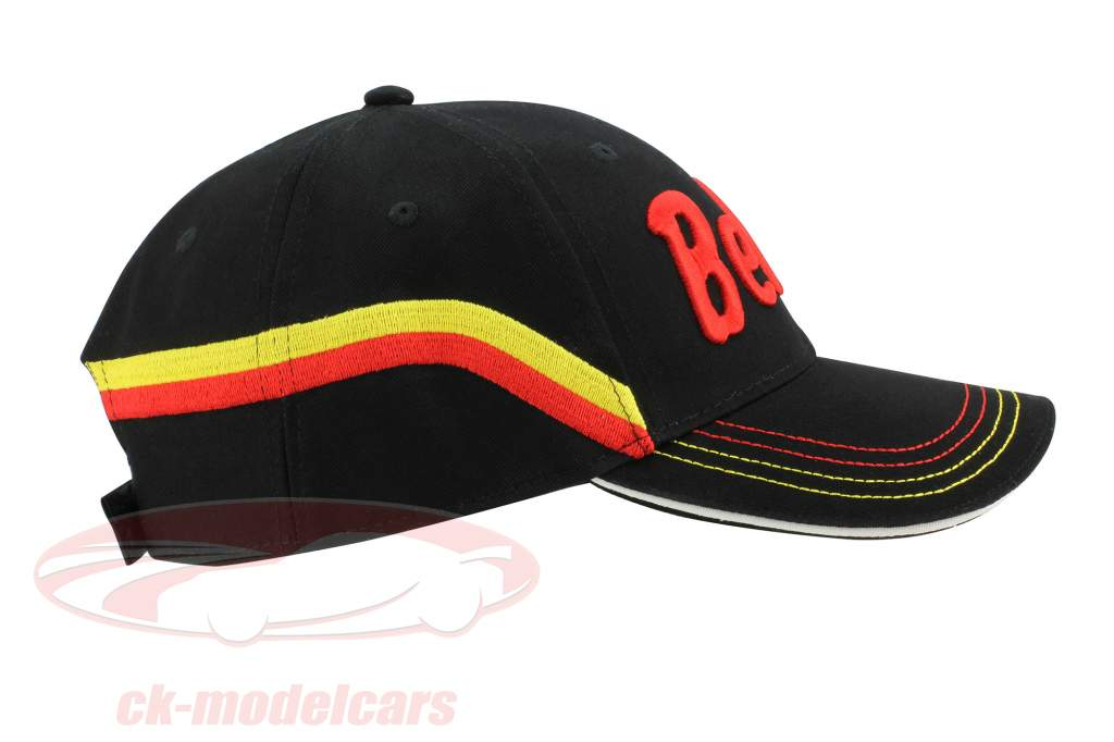 """Stefan Bellof chapeau """"casque"""" Classic Line noir / rouge / jaune"""