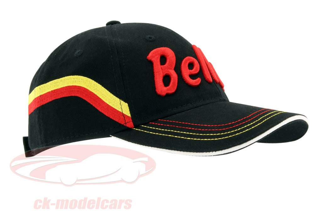"""Stefan Bellof Cap """"helmet"""" Classic Line black / red / yellow"""