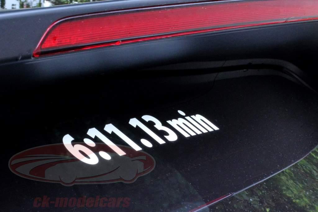 Stefan Bellof sticker record lap 6:11.13 min white 120 x 25 mm