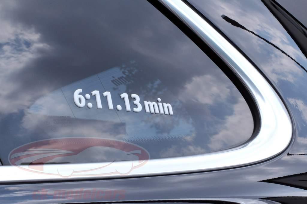 Stefan Bellof 3D sticker opnemen lap 6:11.13 min wit 120 x 25 mm