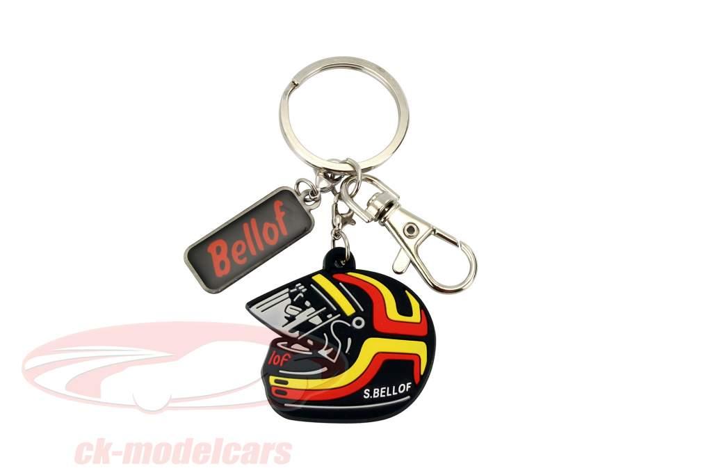Stefan Bellof Porte-clés casque rouge / jaune / noir