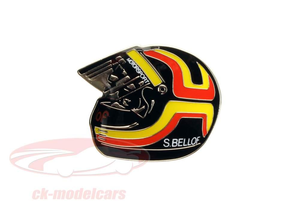 Stefan Bellof Pin ''Helm'' rot / gelb / schwarz