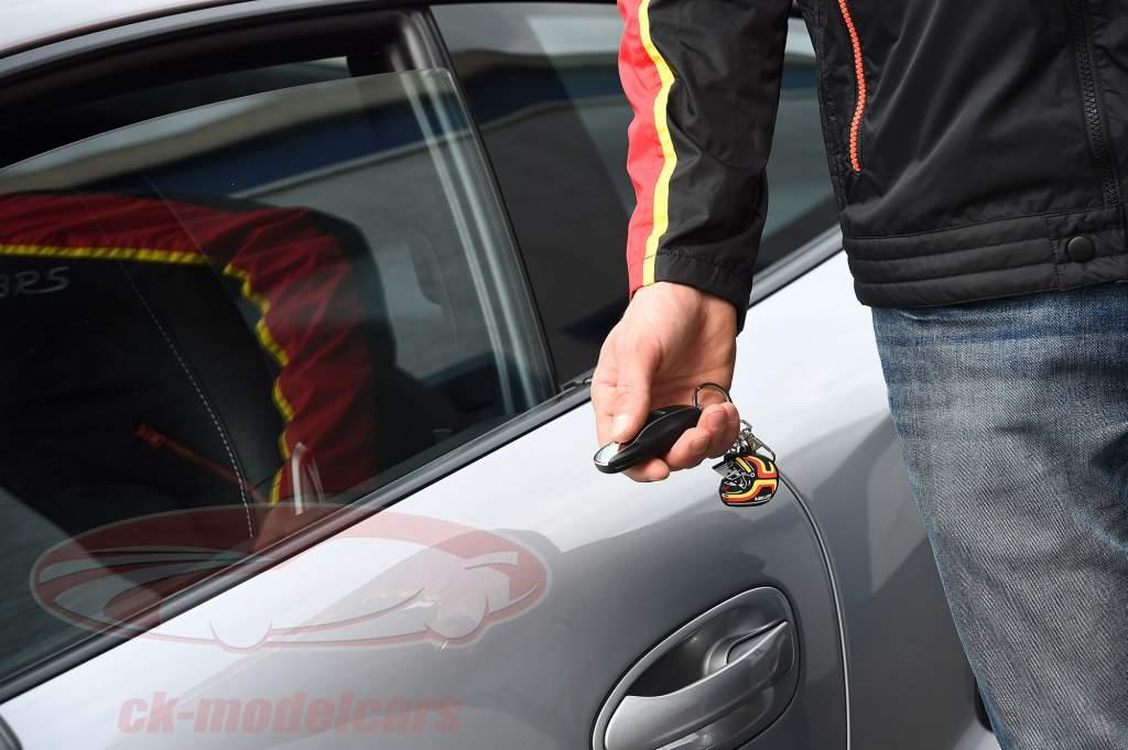 Stefan Bellof key Chain helm rood / geel / zwart