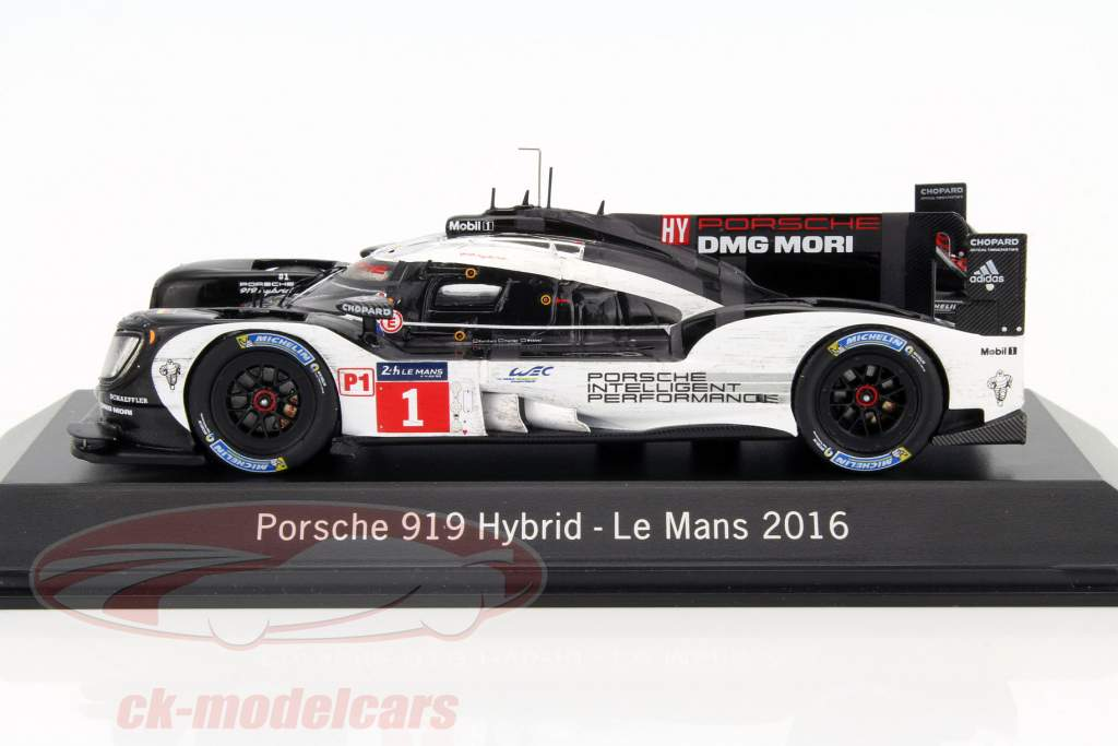 Porsche 919 Hybrid #1 24h LeMans 2016 Dirty version 1:43 Spark