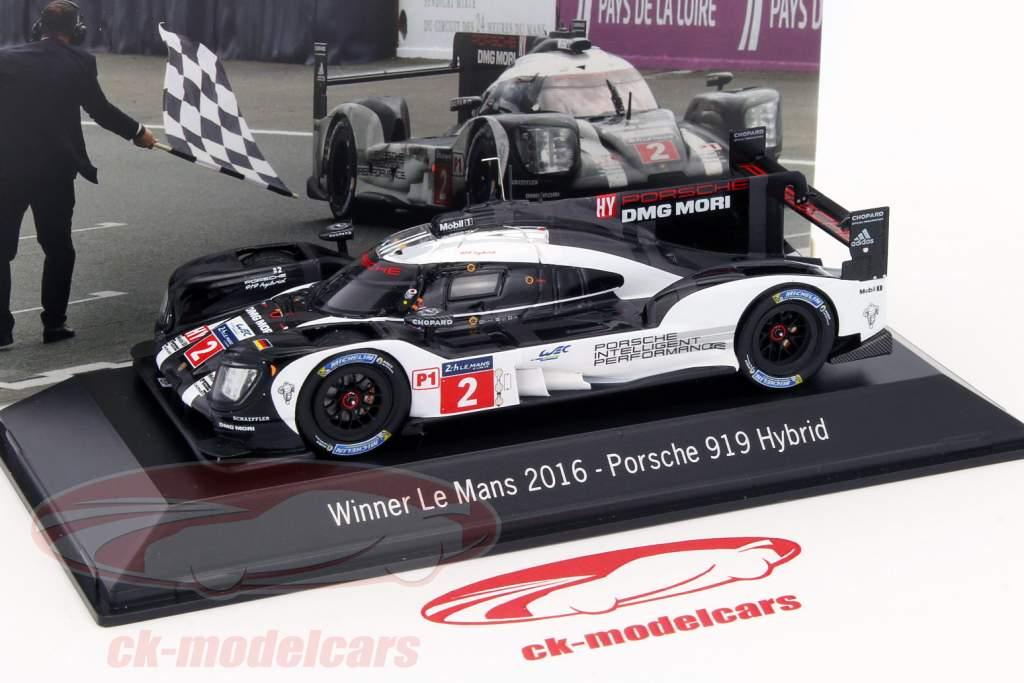 Porsche 919 Hybrid #2 Vinder 24h LeMans 2016 Lieb, Dumas, Jani 1:43 Spark