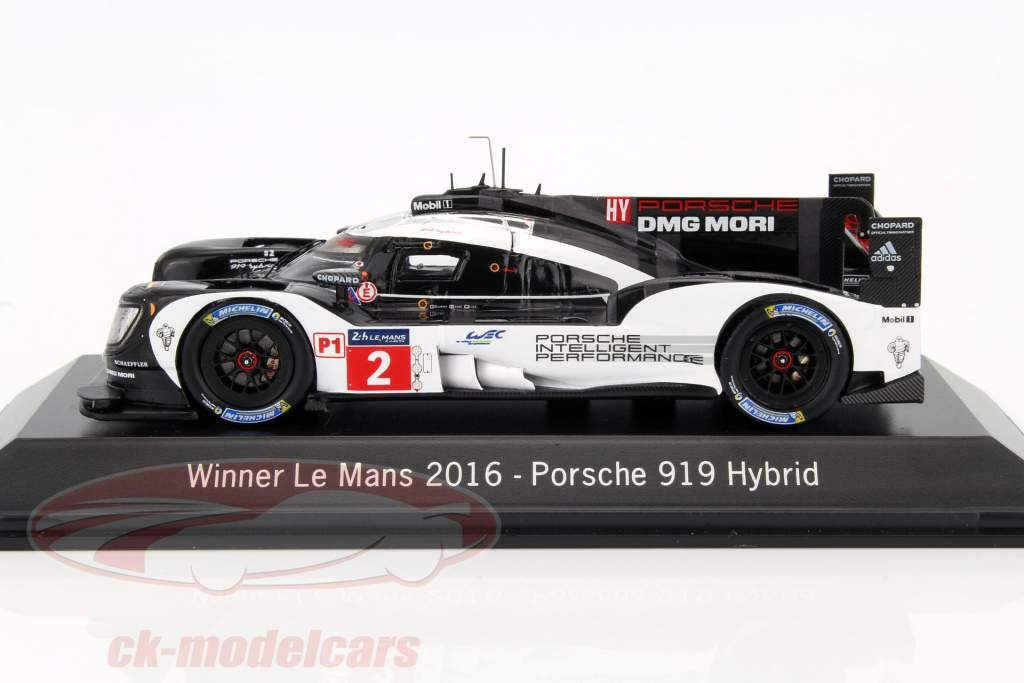 Porsche 919 Hybrid #2 vincitore 24h LeMans 2016 Lieb, Dumas, Jani 1:43 Spark