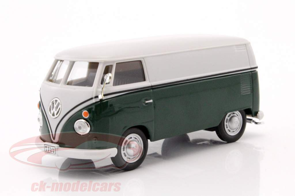 Volkswagen VW T1 furgone verde scuro / bianco 1:43 Cararama