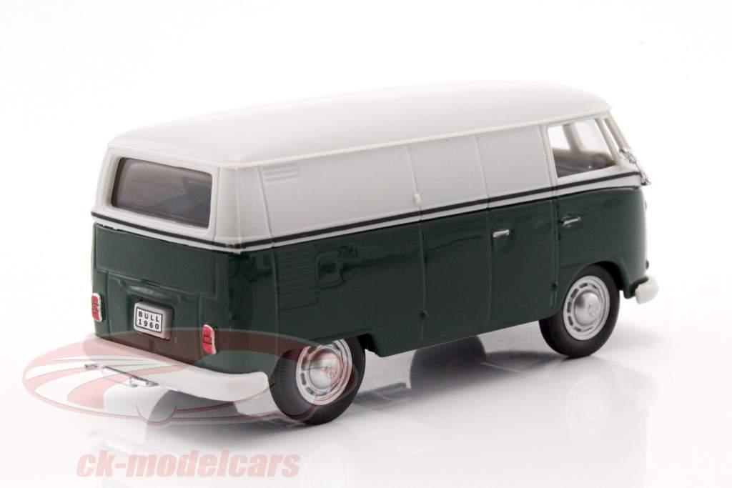 Volkswagen VW T1 furgoneta verde oscuro / blanco 1:43 Cararama