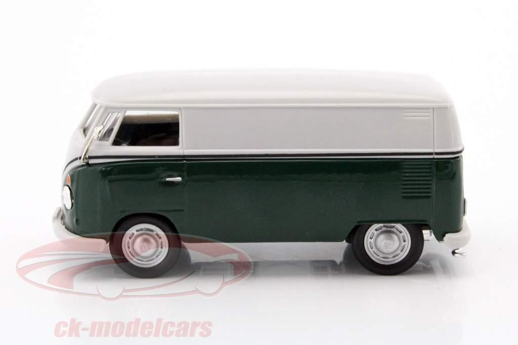 Volkswagen VW T1 busje donkergroen / wit 1:43 Cararama