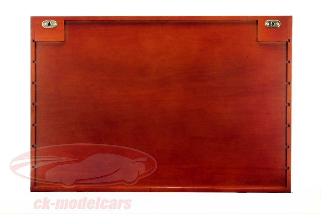 Træ udstillingsvindue Maxi 62 x 42 x 10 cm mahogni SAFE