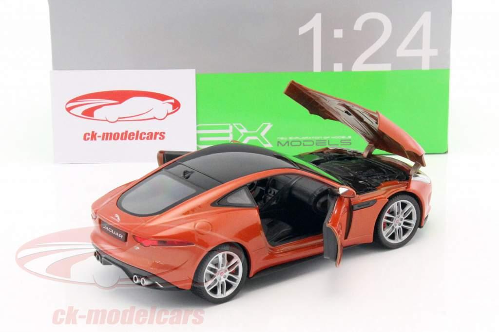 Jaguar F-Type Coupe Baujahr 2015 orange 1:24 Welly