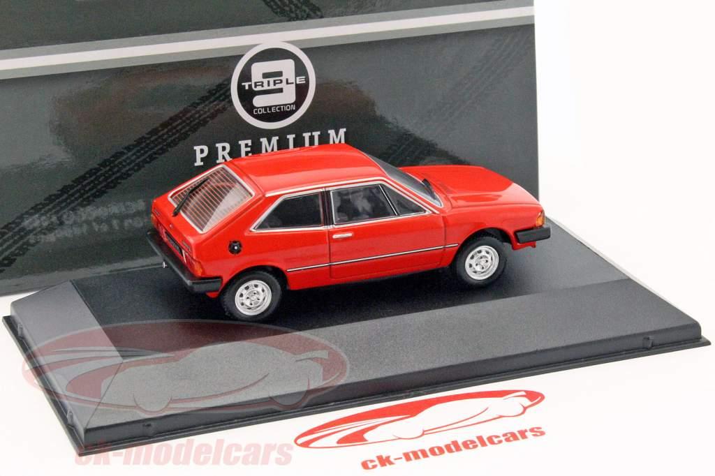 Volkswagen Scirocco ano de construção 1980 vermelho 1:43 Triple 9
