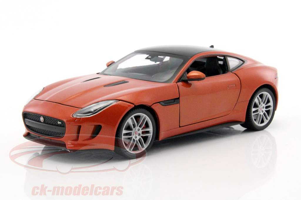 Jaguar F-Type Coupe Construction year 2015 orange 1:24 Welly