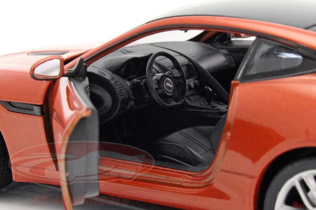 Jaguar F-Type Coupe ano de construção 2015 laranja 1:24 Welly