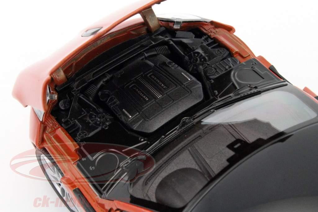 Jaguar F-Type Coupe Opførselsår 2015 appelsin 1:24 Welly