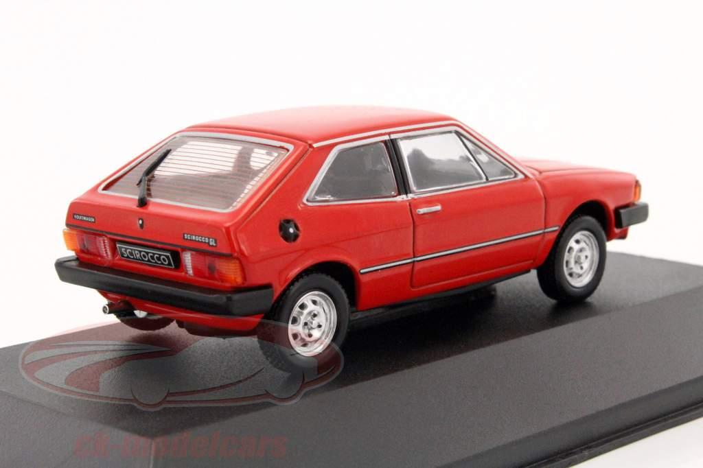 Volkswagen Scirocco année de construction 1980 rouge 1:43 Triple 9