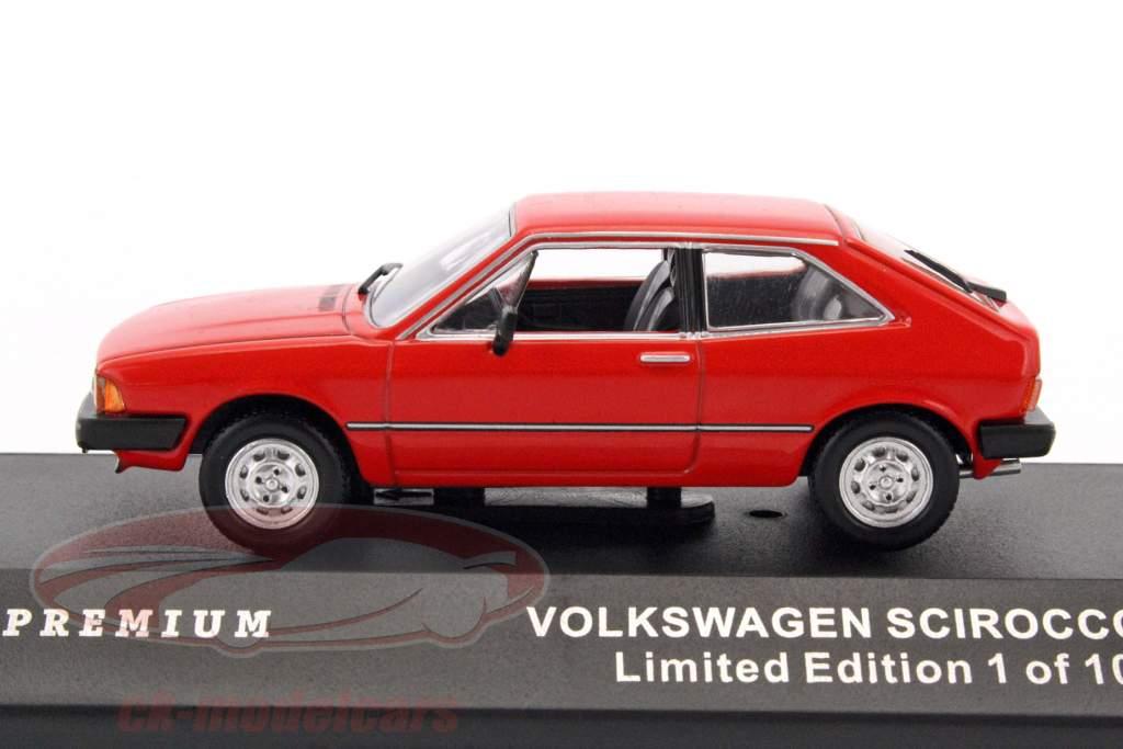 Volkswagen Scirocco year 1980 red 1:43 Triple 9