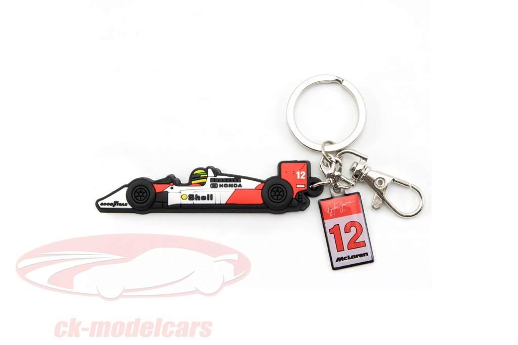 Ayrton Senna key Chain McLaren wit / rood