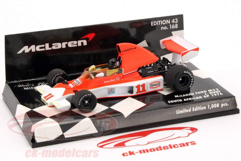 James Hunt McLaren Ford M23 #11 World Champion South Africa GP formula 1 1976 1:43 Minichamps