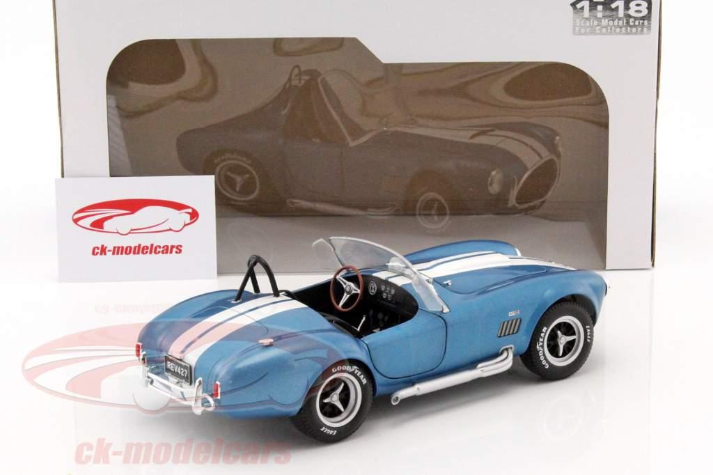 AC Cobra 427 MKII ano de construção 1965 azul / branco 1:18 Solido