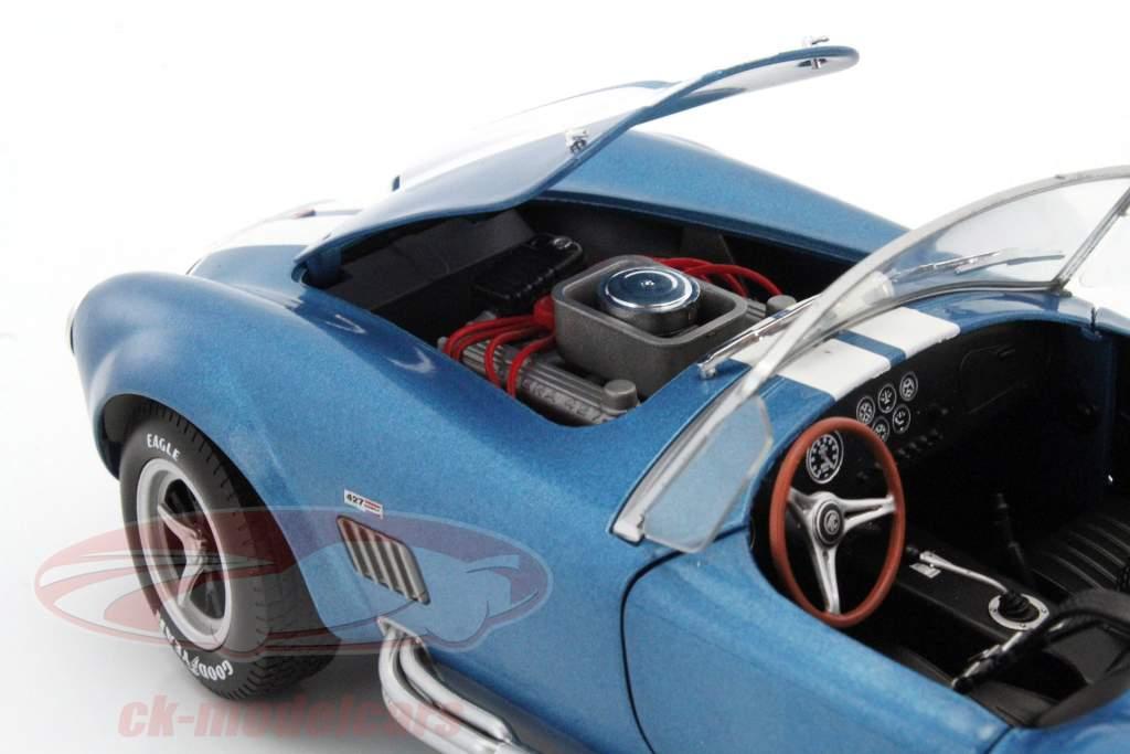 AC Cobra 427 MKII année de construction 1965 bleu / blanc 1:18 Solido