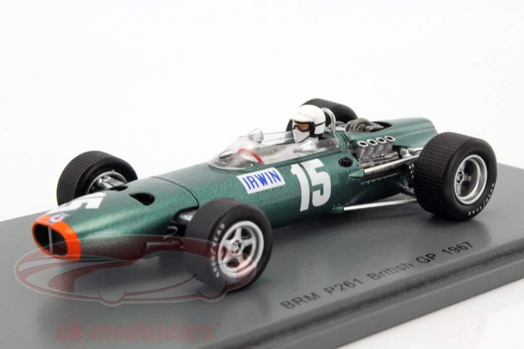 Chris Irwin BRM P61/2 #15 Grã-Bretanha GP fórmula 1 1967 1:43 Spark