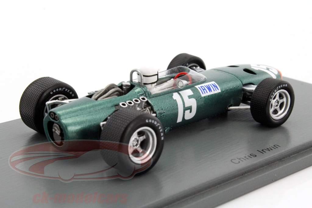 Chris Irwin BRM P61/2 #15 Gran Bretagna GP formula 1 1967 1:43 Spark