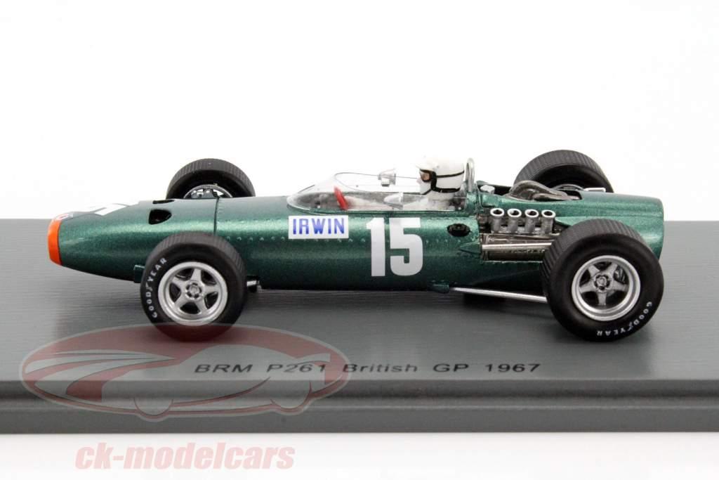 Chris Irwin BRM P61/2 #15 gran Bretaña GP fórmula 1 1967 1:43 Spark
